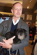 ADAM BROWN; RUDI, Smythson Sloane St. Store opening. London. 6 February 2012.
