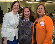 L-R: Anna Eastman, Siomara Saenz-Phillips and Luz Lopez pose for a photograph before the Board of Trustees meeting, June 11, 2015.