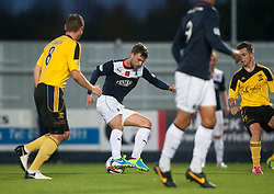 Falkirk's Rory Loy on way to scoring their fourth goal.<br /> Falkirk 4 v 1 Livingston, Scottish Championship game played today at the Falkirk Stadium.<br /> ©Michael Schofield.