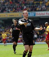 Photo: Tony Oudot.<br />Watford v Portsmouth. The Barclays Premiership. 09/04/2007.<br />Matt Taylor of Portsmouth celebrates his goal
