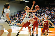 St. Johnsbury's Neva Bostic (23) drives to the hoop for a lay up during the Vermont high school girls division I basketball championship between the St. Johnsbury Hilltoppers and the Champlain Valley Union Redhawks at Patrick Gym on Sunday afternoon March 11, 2018 in Burlington. (BRIAN JENKINS/for the FREE PRESS)