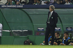 October 31, 2017 - Lisbon, Portugal - Sporting's coach Jorge Jesus reacts during the Champions League  football match between Sporting CP and Juventus FC at Jose Alvalade  Stadium in Lisbon on October 31, 2017. (Credit Image: © Carlos Costa/NurPhoto via ZUMA Press)