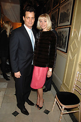 MATTHEW MELLON and NOELLE RENO at the engagement party of Vanessa Neumann and William Cash held at 16 Westbourne Terrace, London W2 on 15th April 2008.<br /><br />NON EXCLUSIVE - WORLD RIGHTS