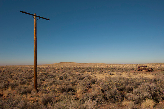 Posts along Old Route 66 in the Petrified National Forest