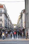 Rua Augusta shopping street lisbon portugal