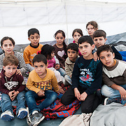 Kids from Iraq in Kara Tepe camp, Lesvos, Greece