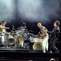 MINNEAPOLIS, MN - JULY 23:  U2 performs at TCF Bank Stadium on July 23, 2011 in Minneapolis, Minnesota. (Photo by Adam Bettcher/Getty Images)