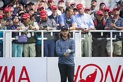 November 22, 2018 - Hong Kong, China - A photo showing England Golf Player Tommy Fleetwood looking at his Golf Club during a match in the Honma Hong Kong Open 2018 in Hong Kong, China. 22 November 2018. (Credit Image: © Harry Wai/NurPhoto via ZUMA Press)