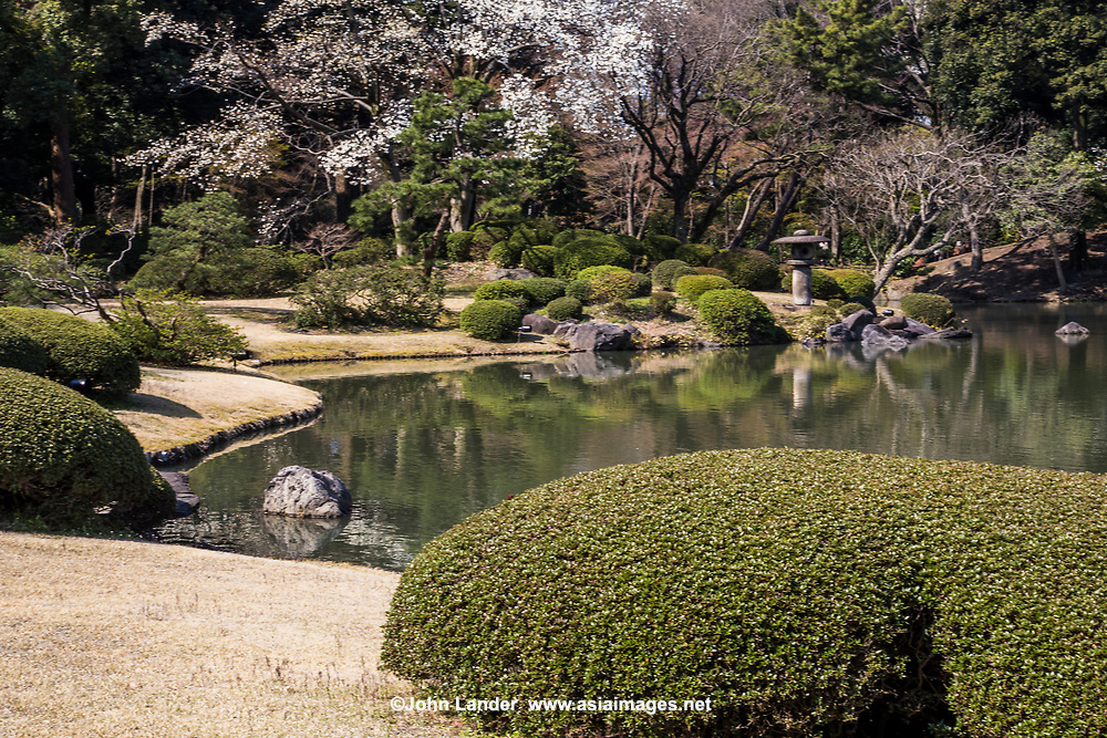 Rikugien Garden Sakura - the name of this garden means the six traditional elements essential to great poetry. A wonderful, romantic sentiment in itself for a garden stroll but especially apt because the concept has been followed through to the design and layout of this garden which depicts 88 scenes from a classic Japanese poem. It does so by use of the pond, stone islands, teahouses and bridges