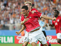 Fotball, 21. juni 2005, Confederations Cup 2005 Argentina - Tyskland,<br /> 1:0 Jubel Kevin Kuranyi Deutschland<br /> Norway only