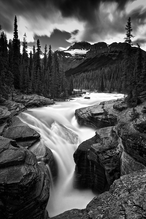 Mistaya Canyon on the Icefields Parkway in Alberta