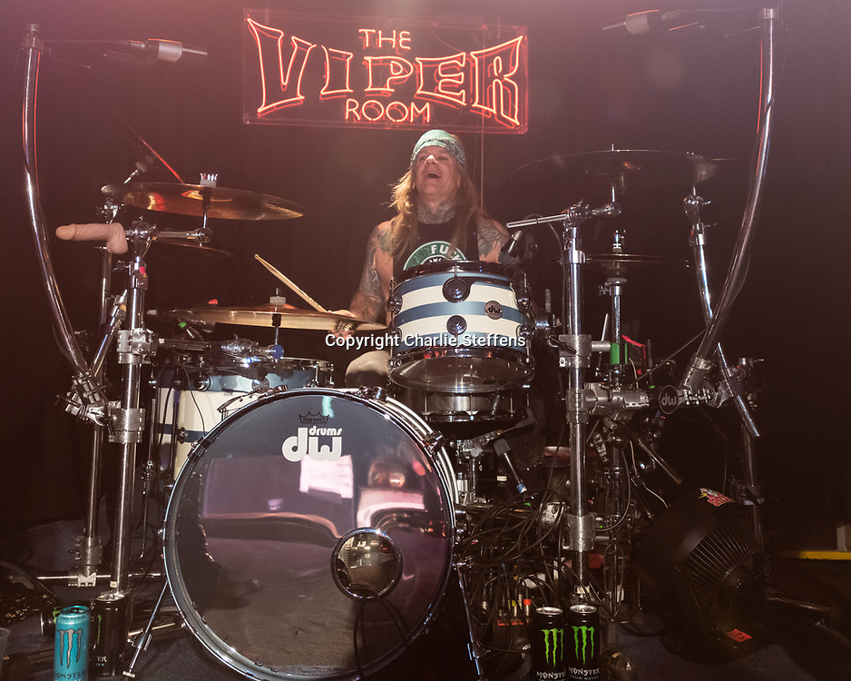 STIX ZADINIA of Steel Panther at the Viper Room in Los Angeles, California