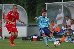 Peter Benjaminsen (FC Helsingør) under træningskampen mellem FC Helsingør og IS Halmia (Sverige) den 24. juli 2012 på Helsingør Stadion (Foto: Claus Birch).