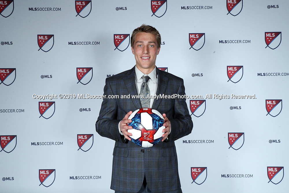 CHICAGO, IL - JANUARY 11: Griffin Dorsey was taken with the sixth overall pick by Toronto FC. The MLS SuperDraft 2019 presented by adidas was held on January 11, 2019 at McCormick Place in Chicago, IL.