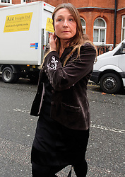 © Licensed to London News Pictures. 14/11/2016. London, UK. An unidentified woman arrives with Swedish official Ingred Isgren at the Ecuadorian Embassy in London where they are expected to interview WikiLeaks editor-in-chief, Julian Assange. Assange, who has been living at the embassy for over four years, is wanted for questioning over accusations of rape in Stockholm in 2010.  Photo credit: Ben Cawthra/LNP