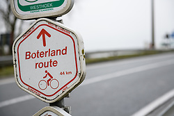 Show the way at Driedaagse Brugge - De Panne 2018 - a 151.7 km road race from Brugge to De Panne on March 22, 2018. Photo by Sean Robinson/Velofocus.com