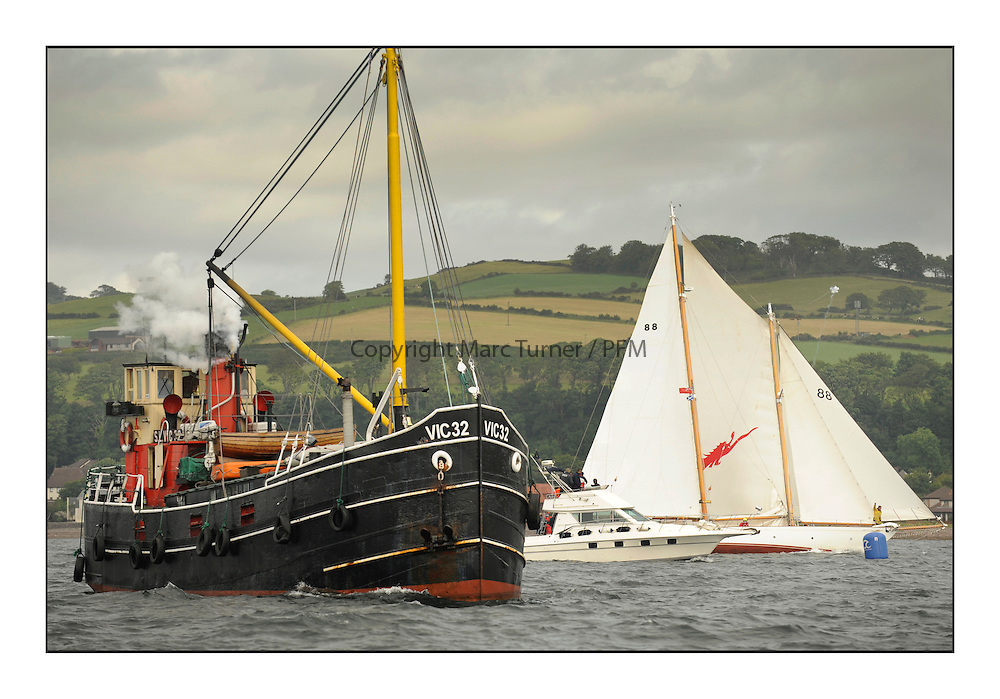 The final day of racing of the Fife Regatta on the King's Course North of Great Cumbrae<br /> <br /> Vic 32 at the finish of Astor, Richard Straman, USA, Schooner, Wm Fife 3rd, 1923<br /> * The William Fife designed Yachts return to the birthplace of these historic yachts, the Scotland's pre-eminent yacht designer and builder for the 4th Fife Regatta on the Clyde 28th June–5th July 2013<br /> <br /> More information is available on the website: www.fiferegatta.com