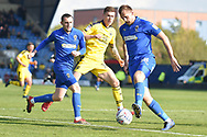 AFC Wimbledon forward James Hanson (18) controls the ball during the EFL Sky Bet League 1 match between Oxford United and AFC Wimbledon at the Kassam Stadium, Oxford, England on 13 April 2019.