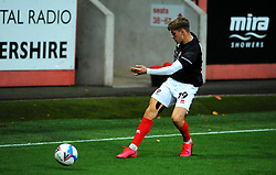 George Lloyd of Cheltenham Town warms up prior to kick-off- Mandatory by-line: Nizaam Jones/JMP - 20/10/2020 - FOOTBALL - Jonny-Rocks Stadium - Cheltenham, England - Cheltenham Town v Scunthorpe United - Sky Bet League Two