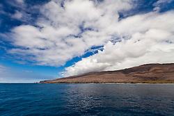 Lanai aka Pineapple Island because of its past as an island-wide pineapple plantation of Dole, the sixth-largest island of the Hawaiian Islands, Hawaii, USA, Pacific Ocean