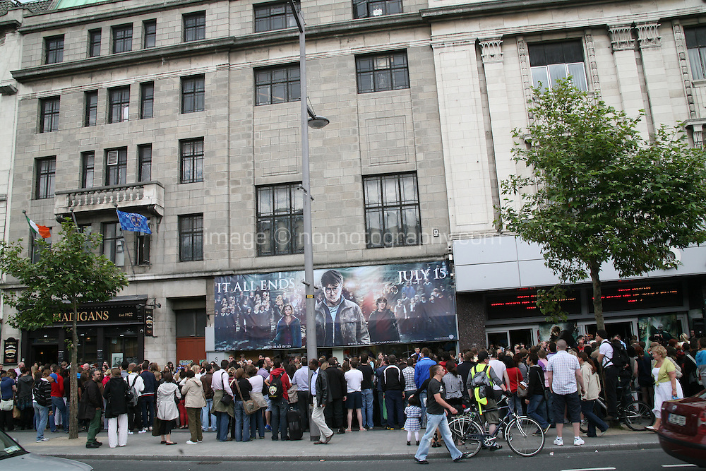 Crowds gather for the Dublin Premiere of Harry Potter and the Deathly Hallows: Part 2 at the Savoy Cinema Dublin Ireland