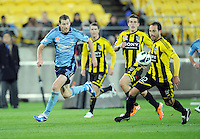 Wellington Phoenix's Andrew Durante against Sydney FC in the A-League football match at Westpac Stadium, Wellington, New Zealand, Saturday, October 06, 2012. Credit:SNPA / Ross Setford