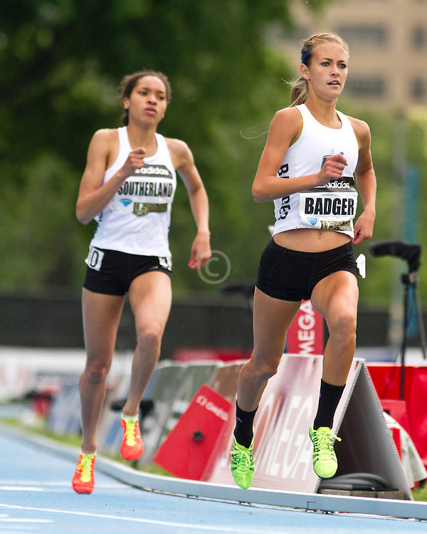 adidas Grand Prix professional track & field meet: high school girls Dream Mile, Badger