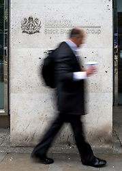 © Licensed to London News Pictures. 24/06/2016. London, UK. The London Stock Exchange on the day of the Britain's decision to leave the European Union. When markets opened this morning, the FTSE 100 dropped more than 8% in a low not seen since the financial crisis in 2012. Photo credit : Tom Nicholson/LNP