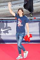 Atletico de Madrid Filipe Luis celebrating Europa League Championship at Neptune Fountain in Madrid, Spain. May 18, 2018. (ALTERPHOTOS/Borja B.Hojas)