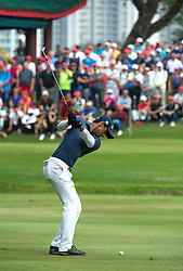 November 24, 2018 - Hong Kong, Hong Kong SAR, CHINA - Honma Hong Kong Open Golf 2018 at Hong Kong Golf Club Fanling. Rai on the 10th Fairway.Englishman Aaron Rai holds onto his clear lead in day 3 of the tournament. After breaking the course record in the last round Rai remains steady and clear of Englands Matthew Fitzpatrick and South Koreas Hyowon Park. (Credit Image: © Jayne Russell/ZUMA Wire)