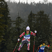 Winter Olympics, Vancouver, 2010. Rosanna Crawford, Canada, in action during the Women's 7.5 KM Sprint Biathlon at The Whistler Olympic Park, Whistler, during the Vancouver  Winter Olympics. 13th February 2010. Photo Tim Clayton