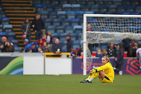 Football - 2018 / 2019 SSE Women's FA Cup - Semi Final: Reading FC Women vs. West Ham United Women<br /> <br /> Reading's Grace Moloney sits alone after her heroics in the penalty shoot out count for nothing as West Ham win the shoot out at Adams Park <br /> <br /> COLORSPORT/SHAUN BOGGUST