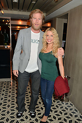 WARREN SMITH and MELINDA MESSENGER at Henry Conway's 31st birthday party held at the Pont St Restaurant, Belgraves Hotel, London on 12th July 2014.