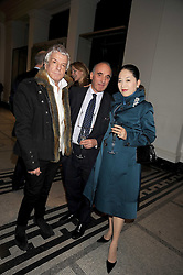 Left to right, NICKY HASLAM, ALEC COBB and the DOWAGER, VISCOUNTESS ROTHERMERE at a reception to celebrate the opening of 'Magnificence Of The Tsars' the new exhibition at the V&A held on 9th December 2008.