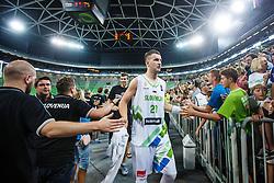 Alen Omic of Slovenia during qualifying match between Slovenia and Kosovo for European basketball championship 2017,  Arena Stozice, Ljubljana on 31th August, Slovenia. Photo by Grega Valancic / Sportida