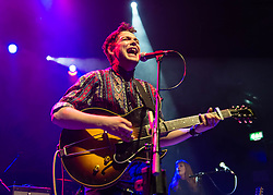 © Licensed to London News Pictures. 14/04/2014. London, UK.   Sivu  performing live at KOKO, supporting headliner Augustines.    Sivu is the english singer-songwriter James Page.Photo credit : Richard Isaac/LNP