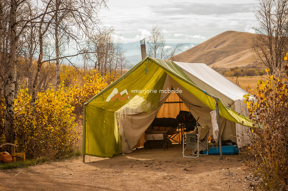 Elk camp tent in the Soldier Mountains near Fairfield, Idaho.