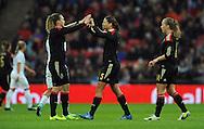 Annike Krahn of Germany Women celebrates after goal<br /> - Womens International Football - England vs Germany - Wembley Stadium - London, England - 23rdNovember 2014  - Picture Robin Parker/Sportimage