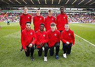 New crop of U18 lads during the English League One match at  Bramall Lane Stadium, Sheffield. Picture date: April 30th 2017. Pic credit should read: Simon Bellis/Sportimage