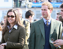 Prince William and Kate Middleton at the Cheltenham Festival in 2007.    Photo by: Stephen Lock / i-Images