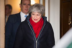 © Licensed to London News Pictures. 02/03/2018. London, UK. Prime Minister Theresa May leaves The Mansion House after delivering her 'Road to Brexit' speech. Photo credit: Rob Pinney/LNP