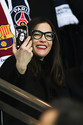 Liv Tyler and her fiance Dave Gardner watch from the stands the UEFA Champions League Round of 16 first leg Paris St Germain v Barcelona game on Valentine's Day at the Parc des Princes stadium in Paris, France, February 14, 2017. Photo by LaurenT Zabulon/ABACAPRESS.COM