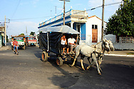 Horse and wagon in Pinar del Rio, Cuba.