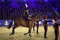 © Licensed to London News Pictures. 15/05/2016. Windsor, UK. The Household Cavalry and Kings Troop perform a gun salute.. An evening event held at the Royal Windsor Horse show to celebrate the 90th birthday of HRH Queen Elizabeth II. Acts from arounds the world have been invited to perform at the evening event, set in the grounds of Windsor Castle. Photo credit: Ben Cawthra/LNP