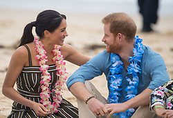 9 in series of 10. File photo dated 19/10/2018 of Prince Harry and Meghan Markle during a visit to South Bondi Beach in Sydney, on the fourth day of the royal couple's visit to Australia.