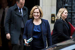 © Licensed to London News Pictures. 05/12/2017. London, UK. Home Secretary Amber Rudd leaves 10 Downing Street after the weekly Cabinet meeting. Photo credit: Rob Pinney/LNP