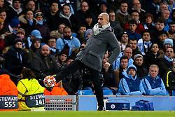David Silva of Manchester City is fouled by Benjamin Stambouli of Schalke - Mandatory by-line: Robbie Stephenson/JMP - 12/03/2019 - FOOTBALL - Etihad Stadium - Manchester, England - Manchester City v Schalke - UEFA Champions League, Round of 16, 2nd leg