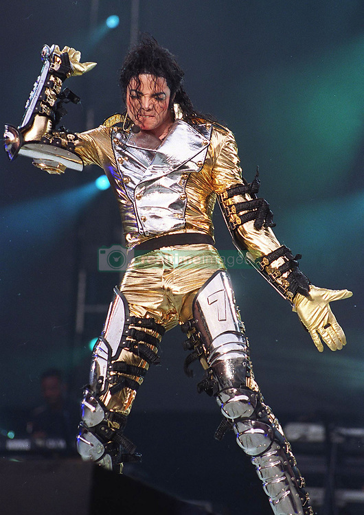 June 26, 2009 - London, CA, U.S. - 25 June 2009 - Los Angeles, CA - Michael Jackson has died at the age of 50 after suffering an apparent cardiac arrest in his rented Holmby Hills mansion. File Photo: 7/12/1997 Michael Jackson in concert at Wembley Stadium during History World Tour. Photoshot/AdMedia................  ........ *** Local Caption  (Credit Image: © Photoshot/AdMedia via ZUMA Wire)