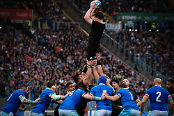 November 24, 2018 - Roma, RM, Italy - Scott Barrett of All Blacks during the Cattolica Test Match 2018 between Italy and All Blacks at Olympic Stadium on November 24, 2018 in Rome, Italy. (Credit Image: © Danilo Di Giovanni/NurPhoto via ZUMA Press)