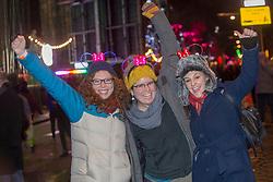 Hayley Munro, Erin Murphy and Lisa Codemo. Edinburgh's Hogmanay Street Party, Sunday 31st December.